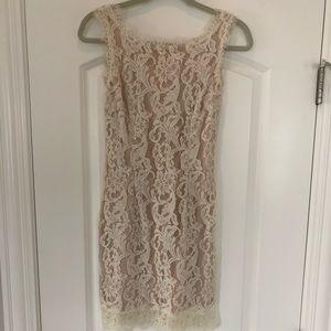 White cocktail / rehearsal dress